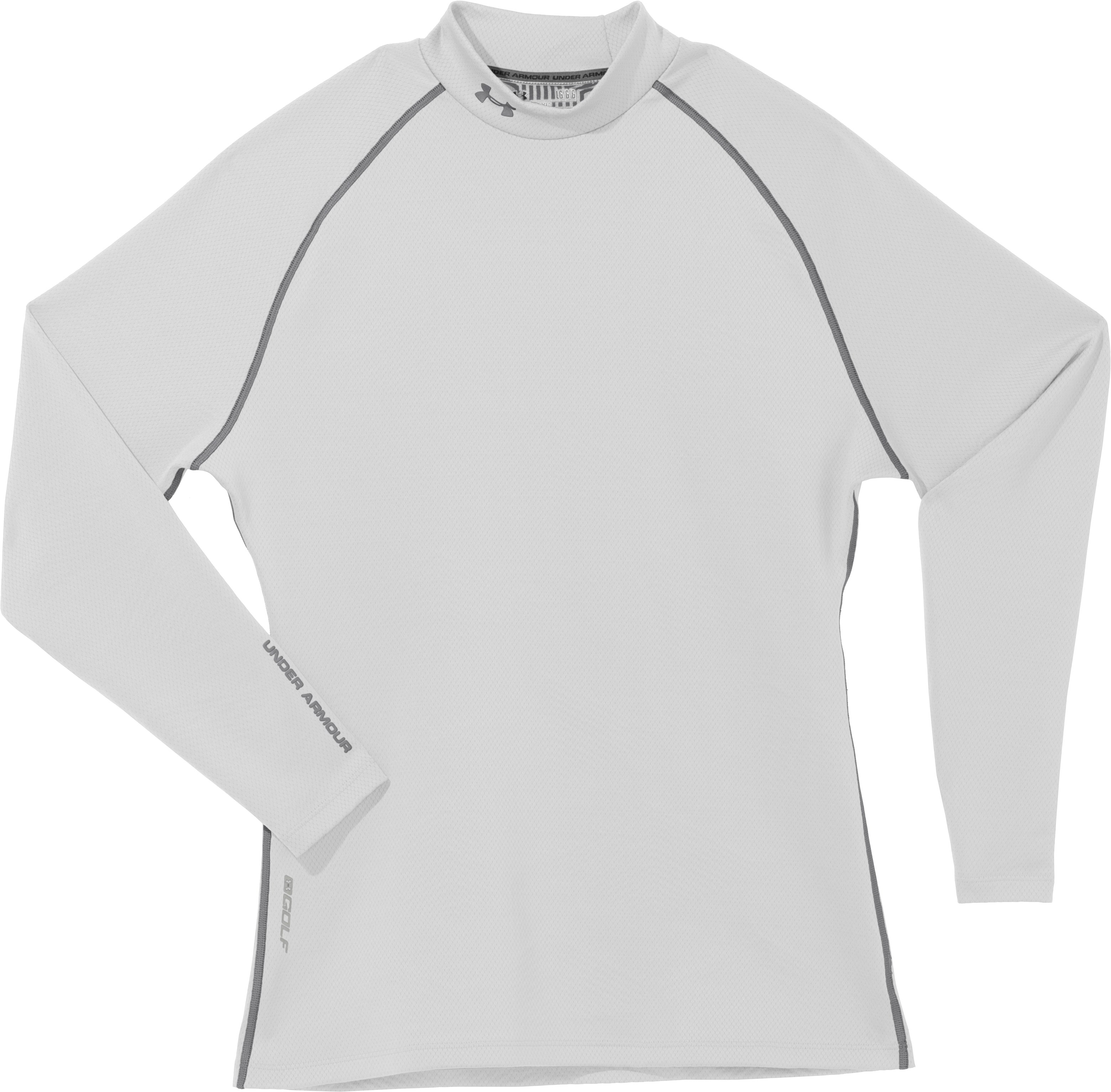 Men's ColdGear® Infrared Thermo Golf Mock, White, Laydown