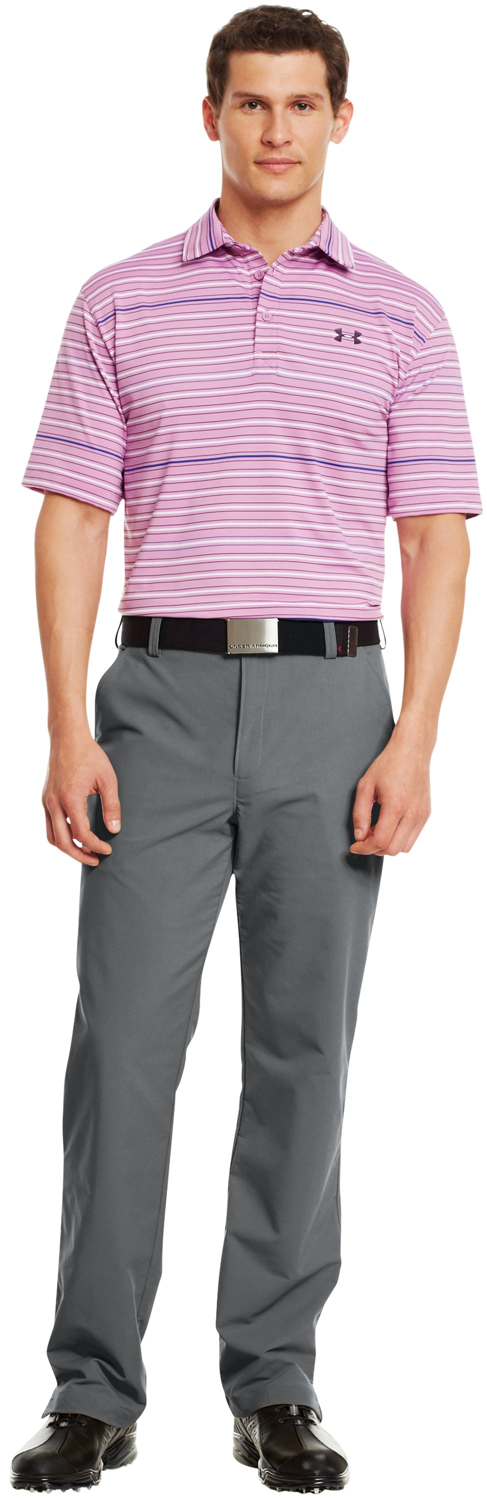 Men's UA Performance Stripe Polo, Jellyfish