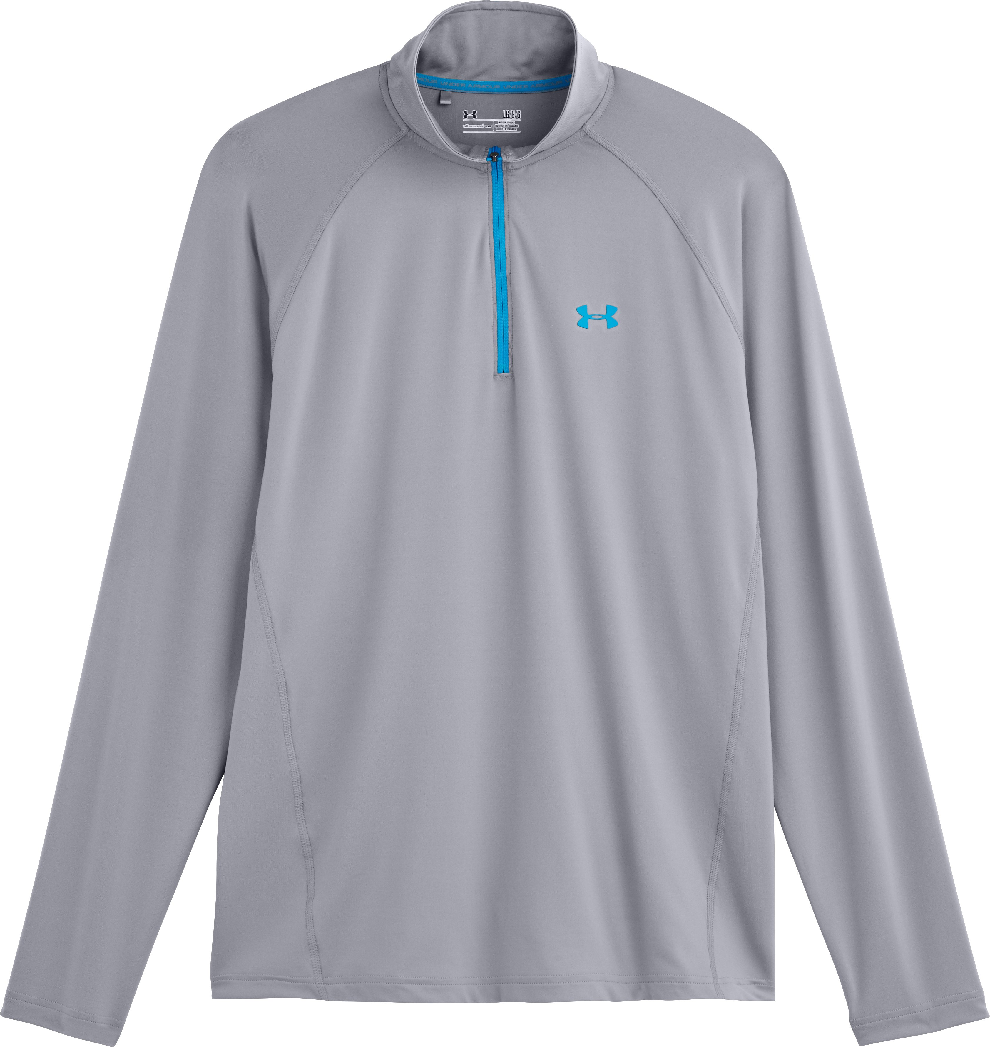 Men's UA Golf Lightweight ¼ Zip, Steel, Laydown