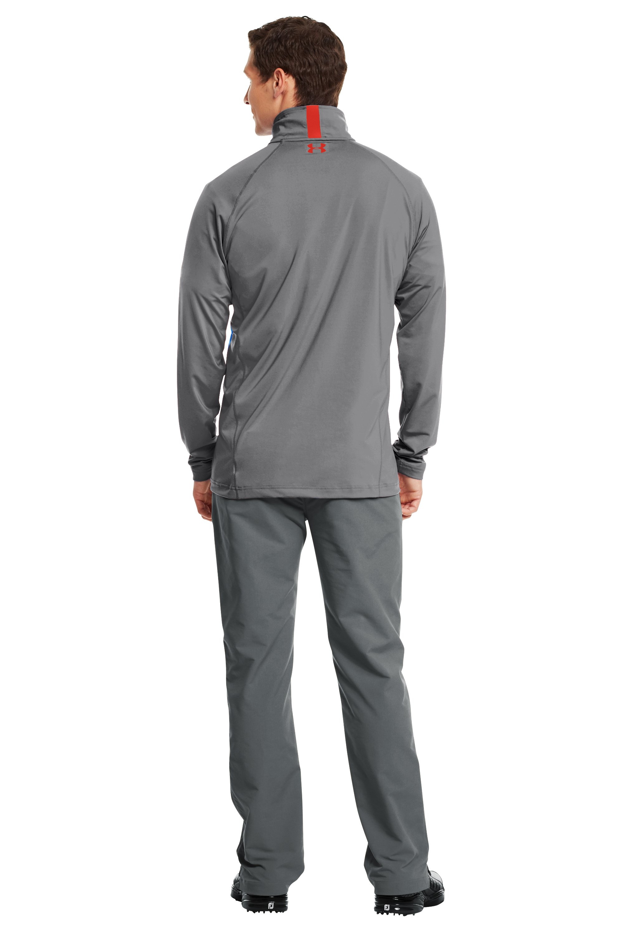 Men's UA Golf Lightweight ¼ Zip, Graphite, Back