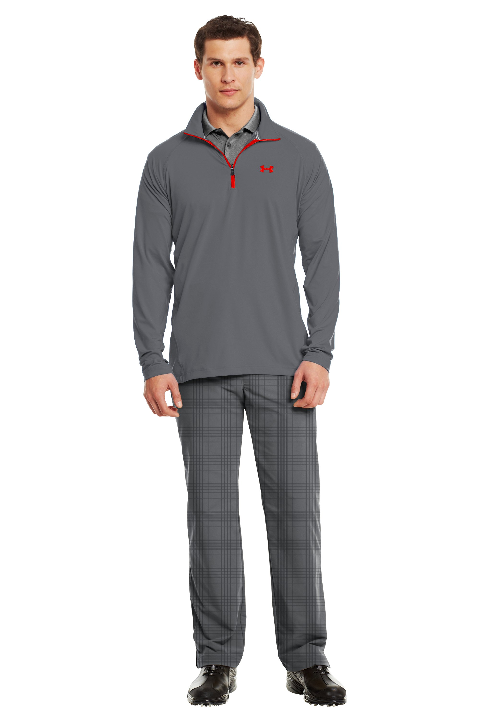 Men's UA Golf Lightweight ¼ Zip, Graphite, Front
