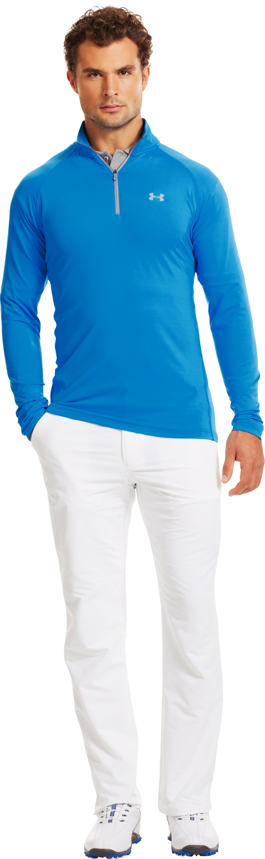 Men's UA Golf Lightweight ¼ Zip, ELECTRIC BLUE, zoomed image