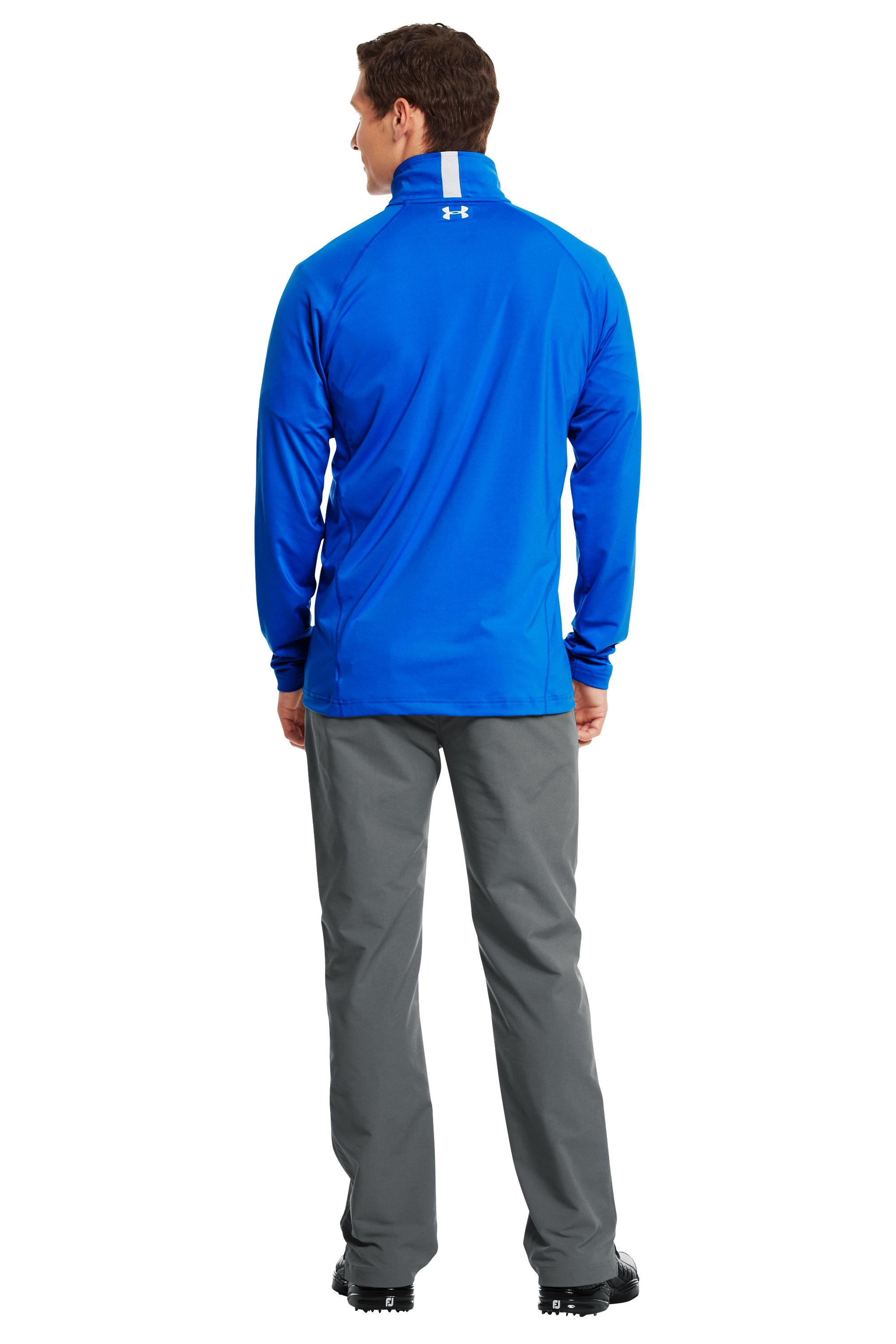 Men's UA Golf Lightweight ¼ Zip, Moon Shadow, Back