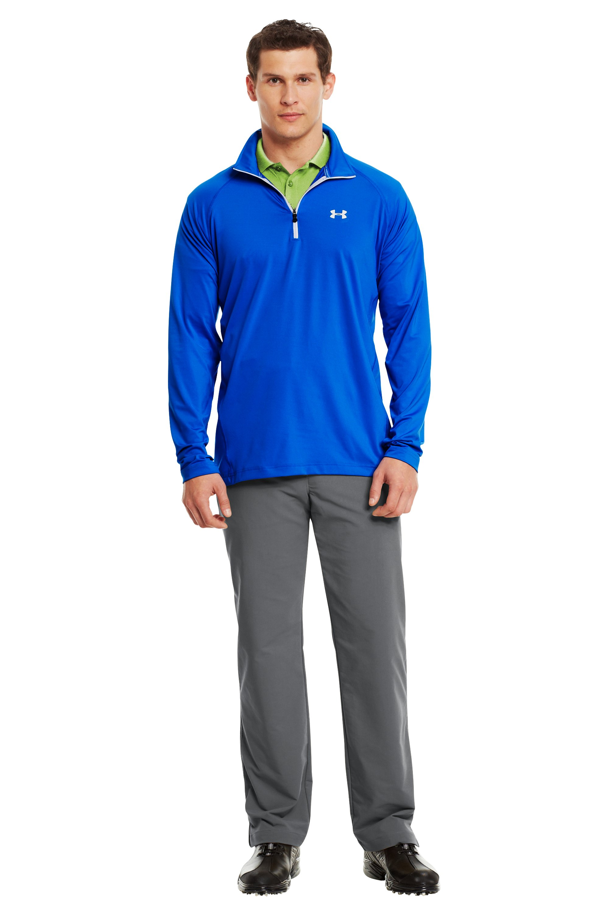 Men's UA Golf Lightweight ¼ Zip, Moon Shadow, Front