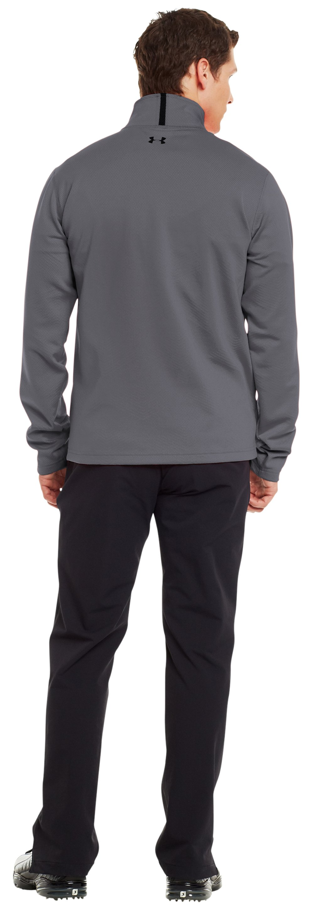 Men's ColdGear® Infrared Thermo Golf ½ Zip, Graphite, Back