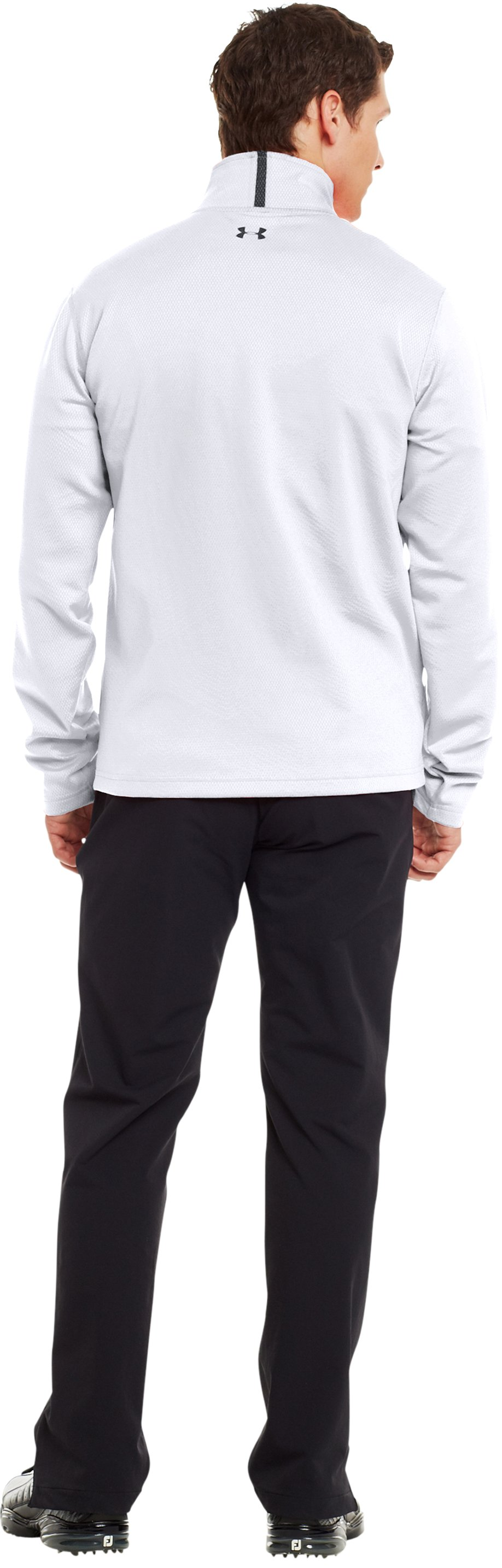 Men's ColdGear® Infrared Thermo Golf ½ Zip, White, Back