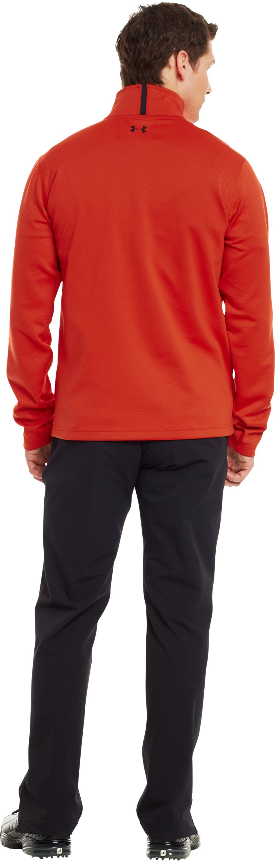 Men's ColdGear® Infrared Thermo Golf ½ Zip, Fuego, Back