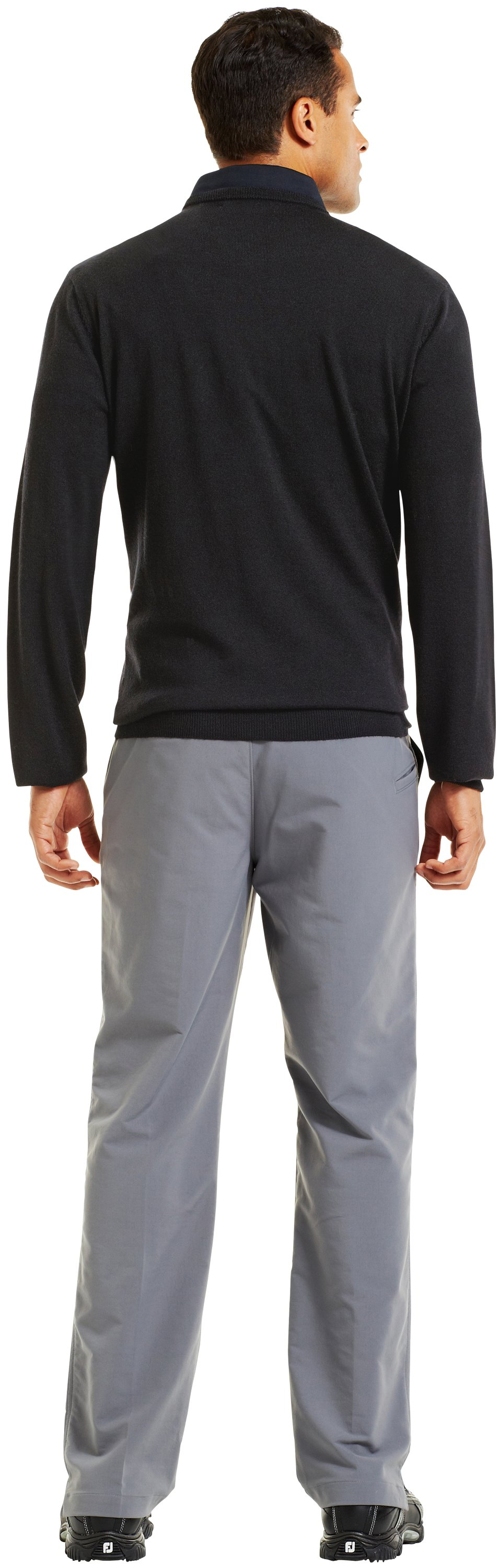 Men's UA V-Neck Sweater, Black , Back