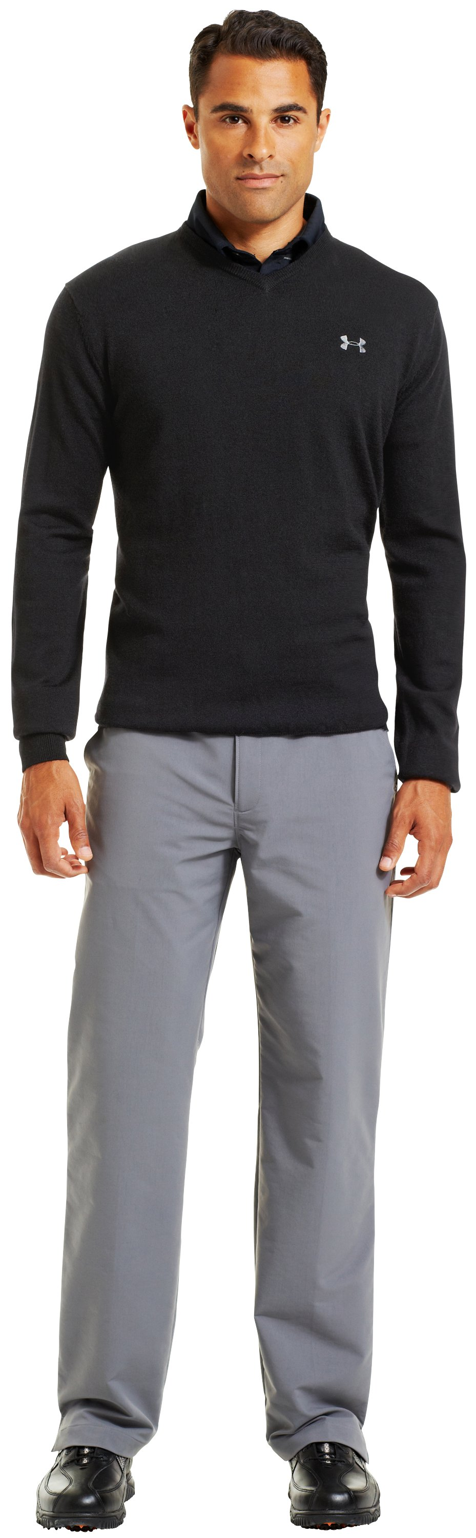 Men's UA V-Neck Sweater, Black