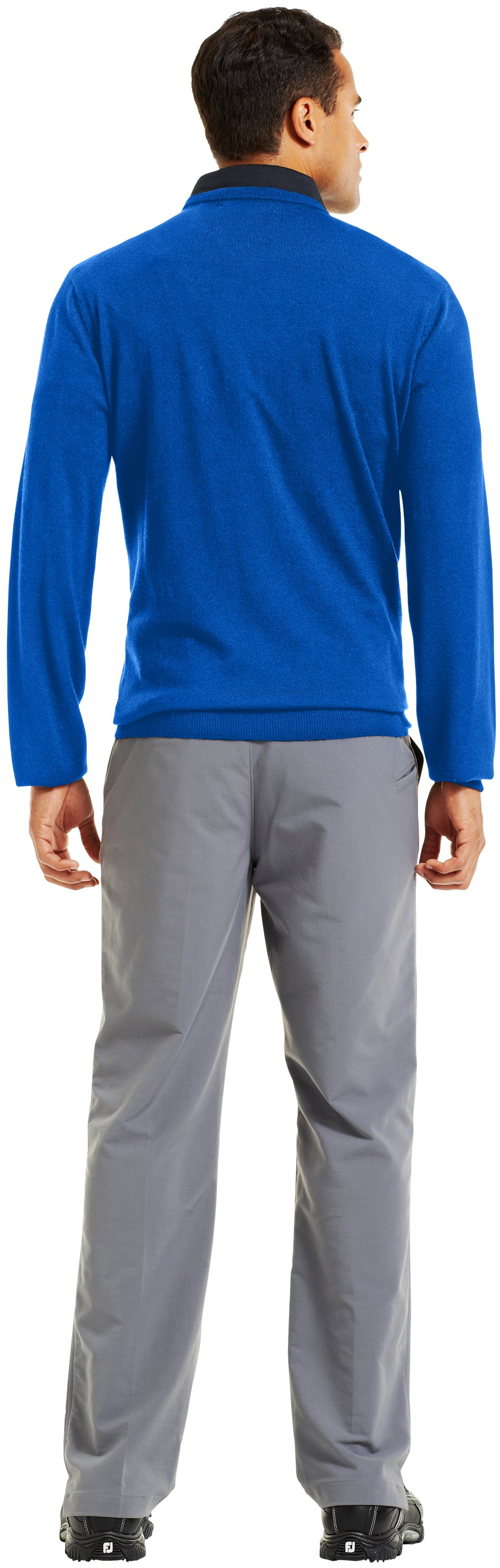 Men's UA V-Neck Sweater, Moon Shadow, Back