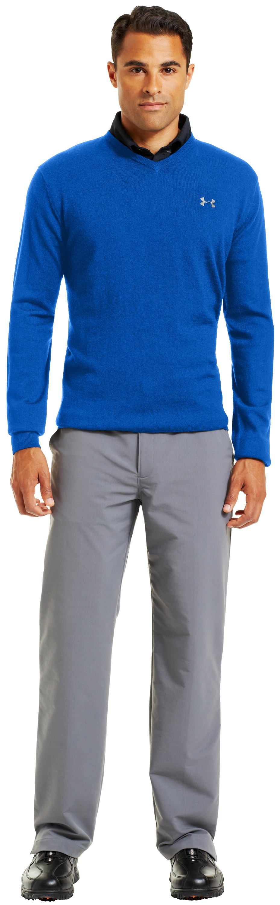 Men's UA V-Neck Sweater, Moon Shadow, Front