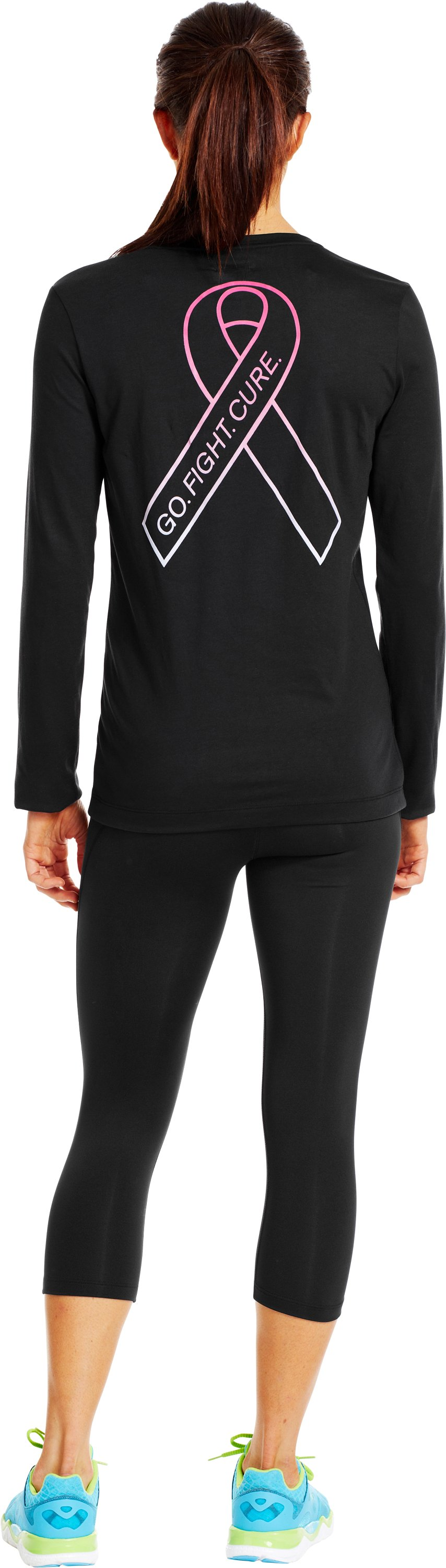 Women's UA PIP® Gradient Flock Long Sleeve, Black , Back