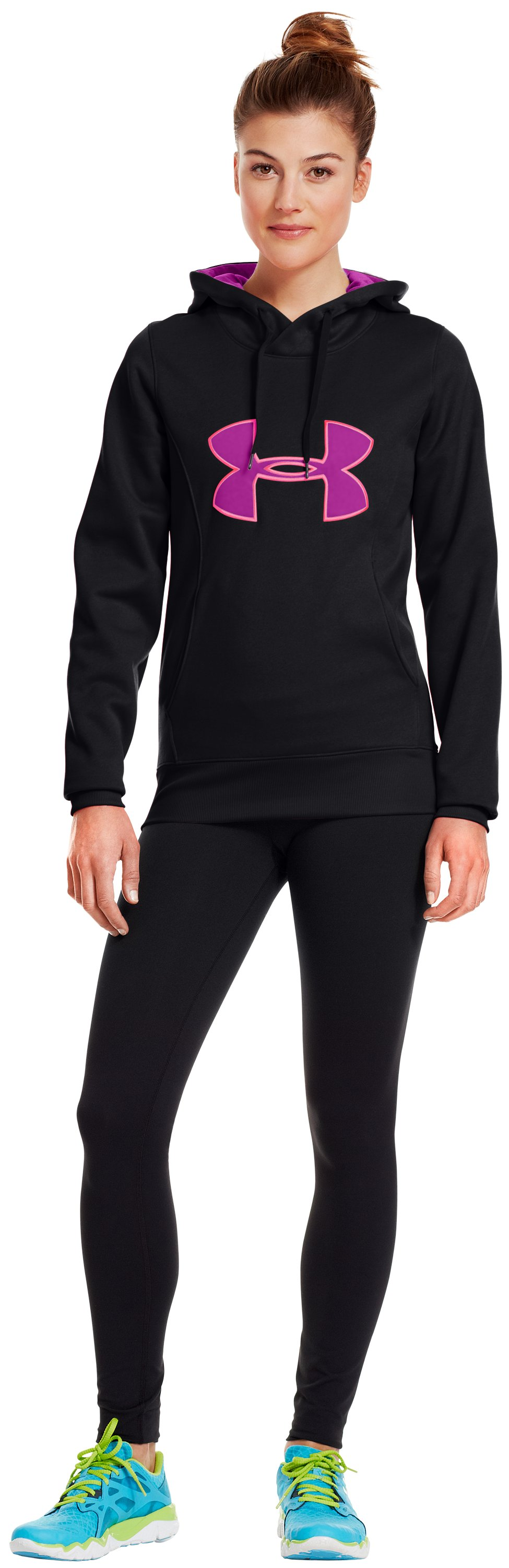 Women's Armour® Fleece Storm Big Logo Hoodie, Black , zoomed image