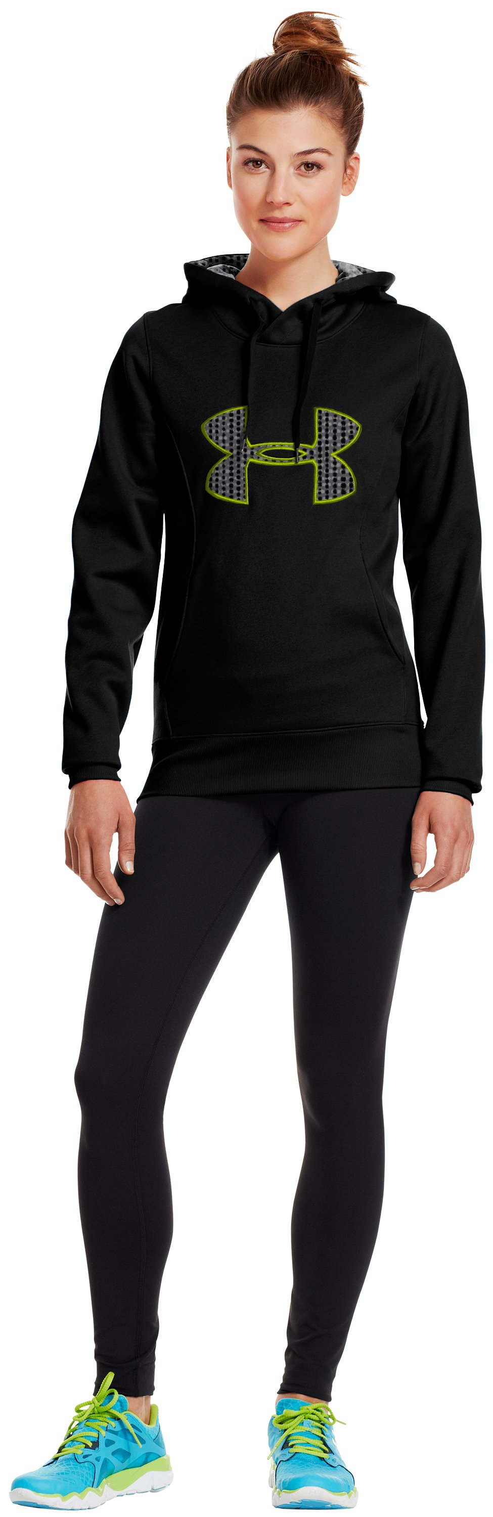Women's Armour® Fleece Storm Big Logo Hoodie, Black