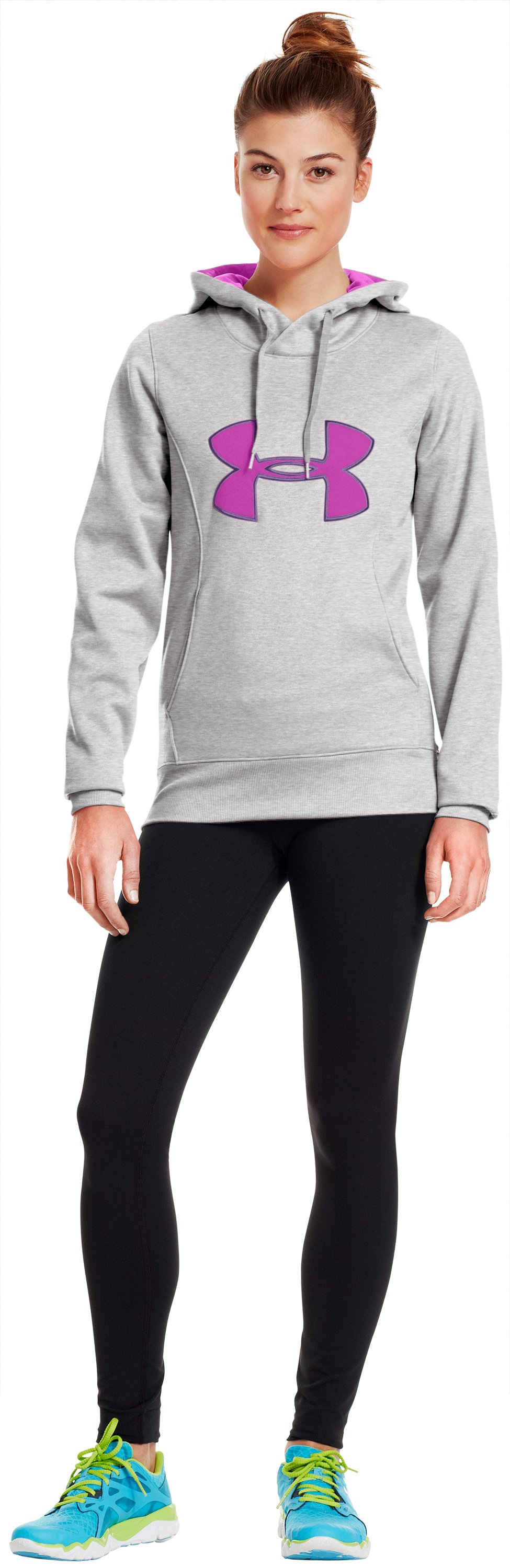 Women's Armour® Fleece Storm Big Logo Hoodie, True Gray Heather