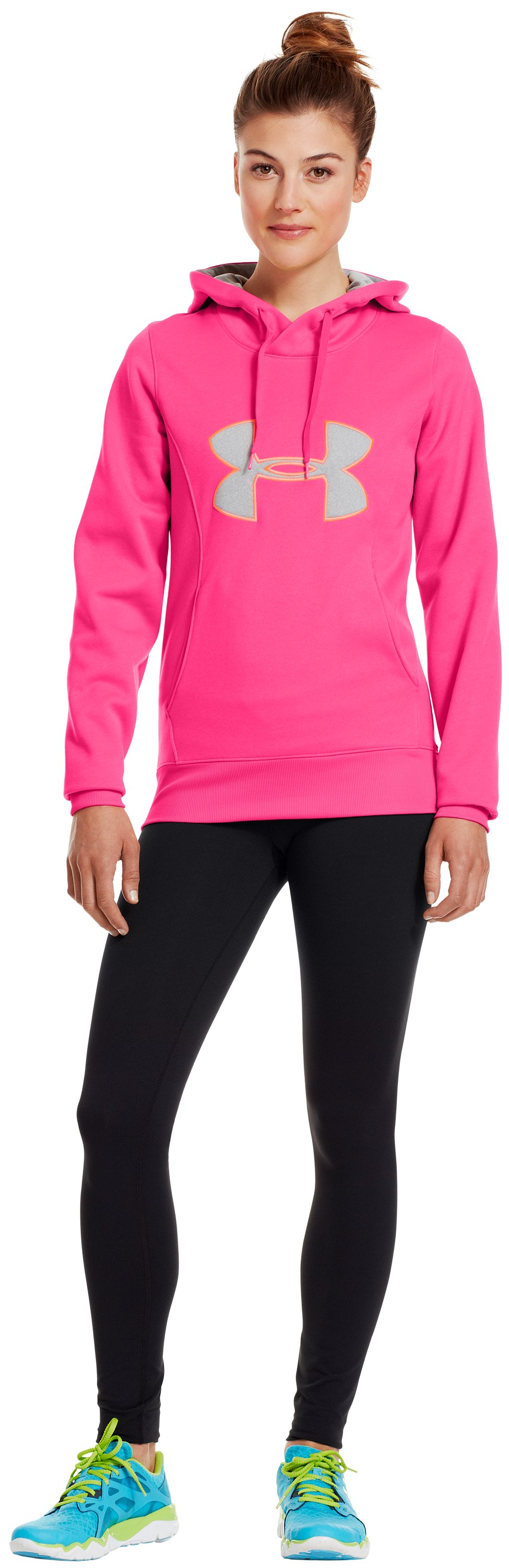 Women's Armour® Fleece Storm Big Logo Hoodie, PINKADELIC, Front