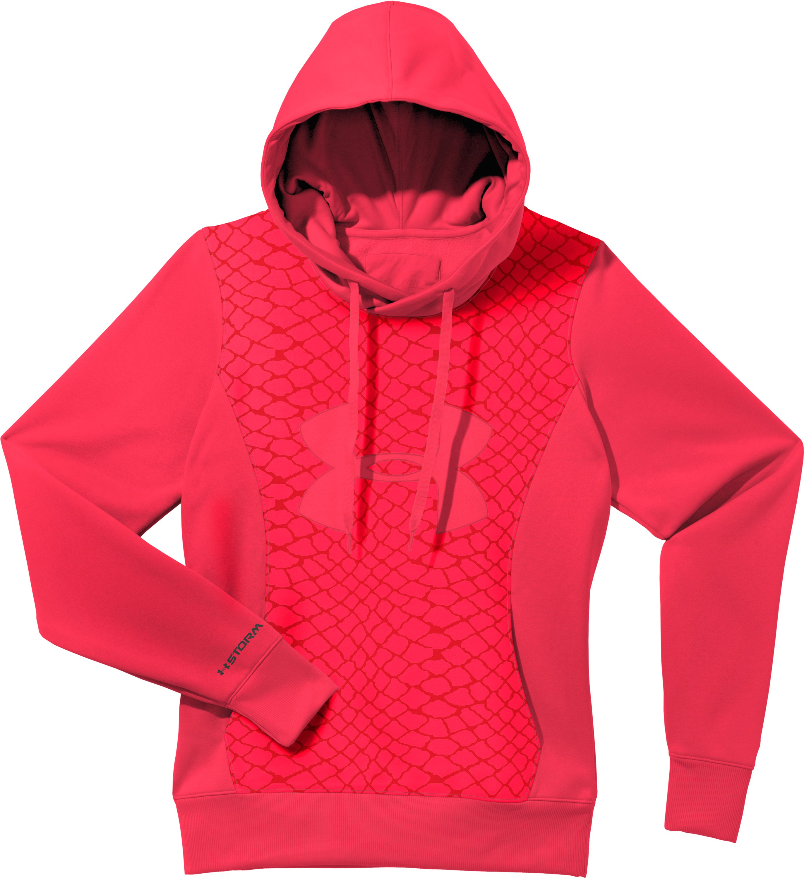 Women's Armour® Fleece Storm Eclipse Big Logo Hoodie, Neo Pulse, Laydown