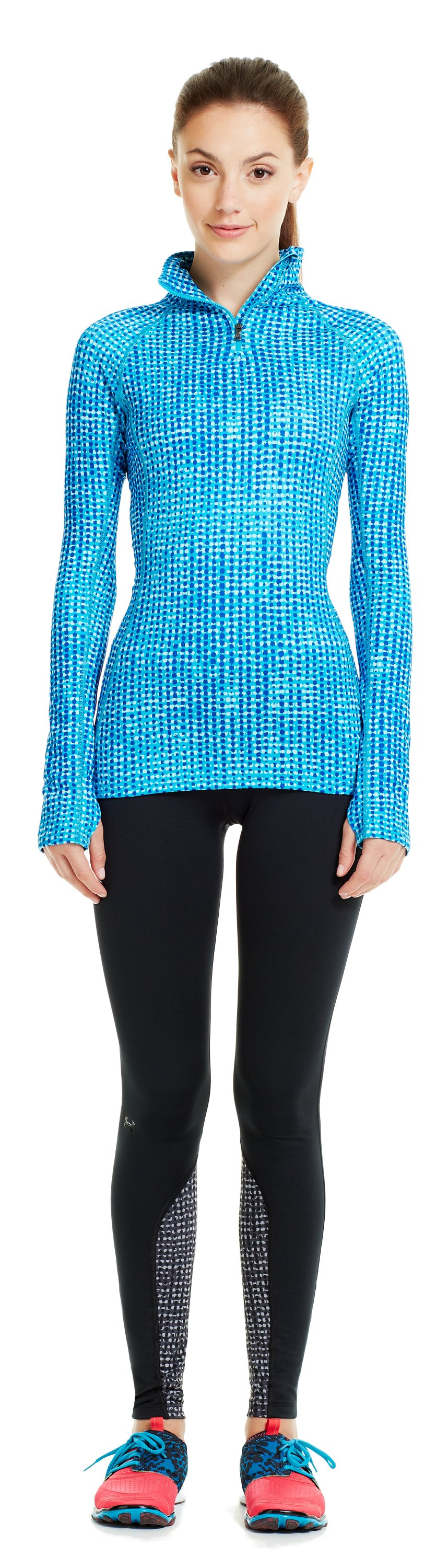 Women's UA Cozy Printed ½ Zip, PIRATE BLUE, zoomed image