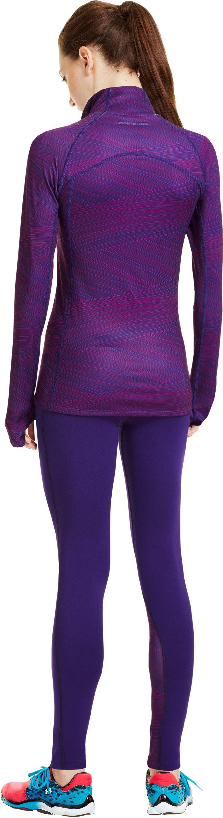 Women's UA Cozy Printed ½ Zip, Purple Rain, Back
