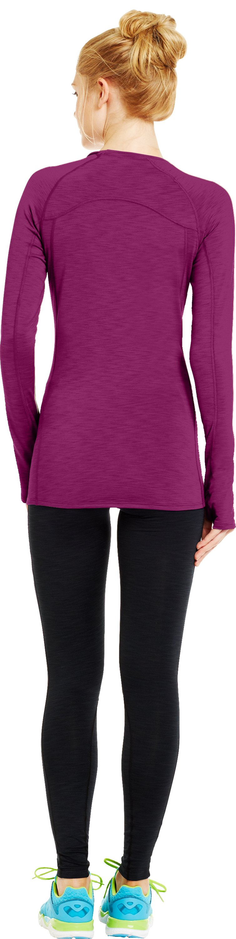 Women's UA Cozy Crew, Aubergine, Back