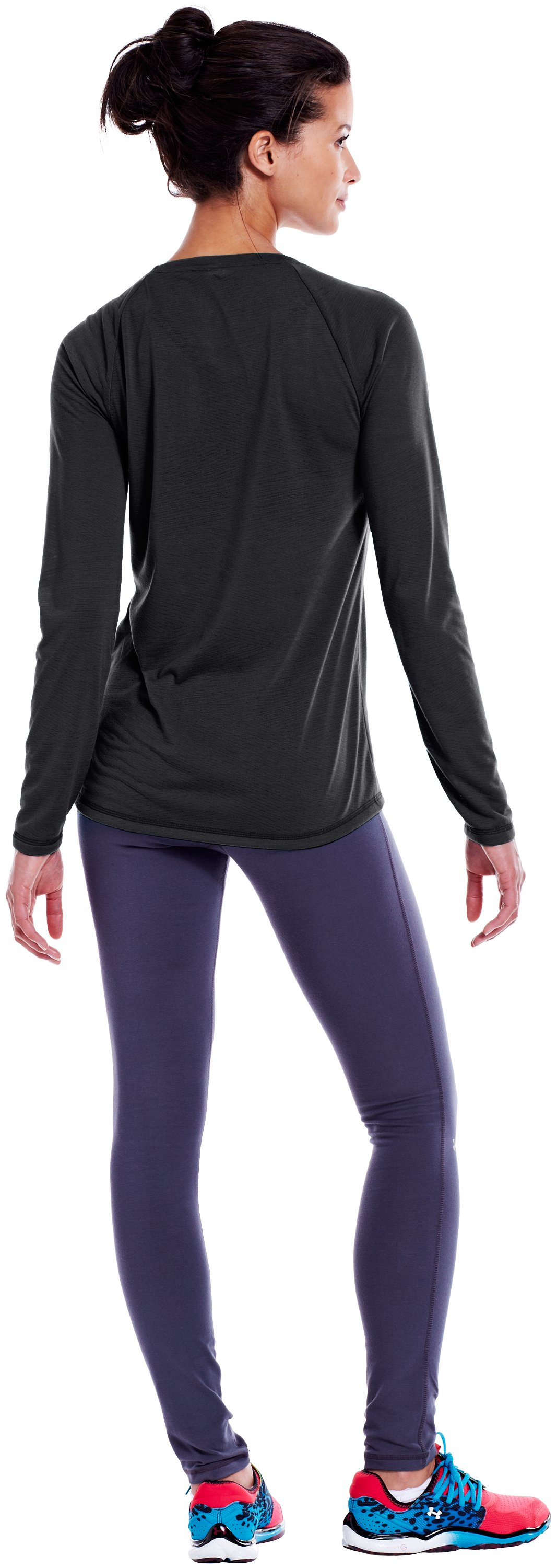 Women's UA Ultimate Burnout Long Sleeve, Black , Back