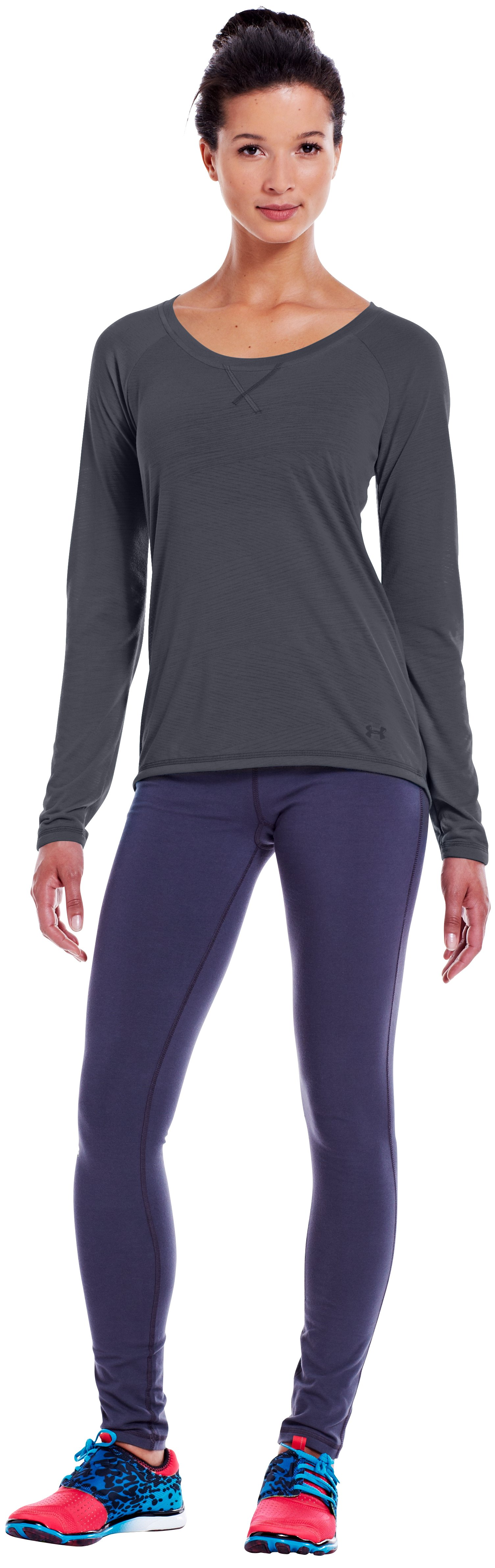 Women's UA Ultimate Burnout Long Sleeve, Lead, Front