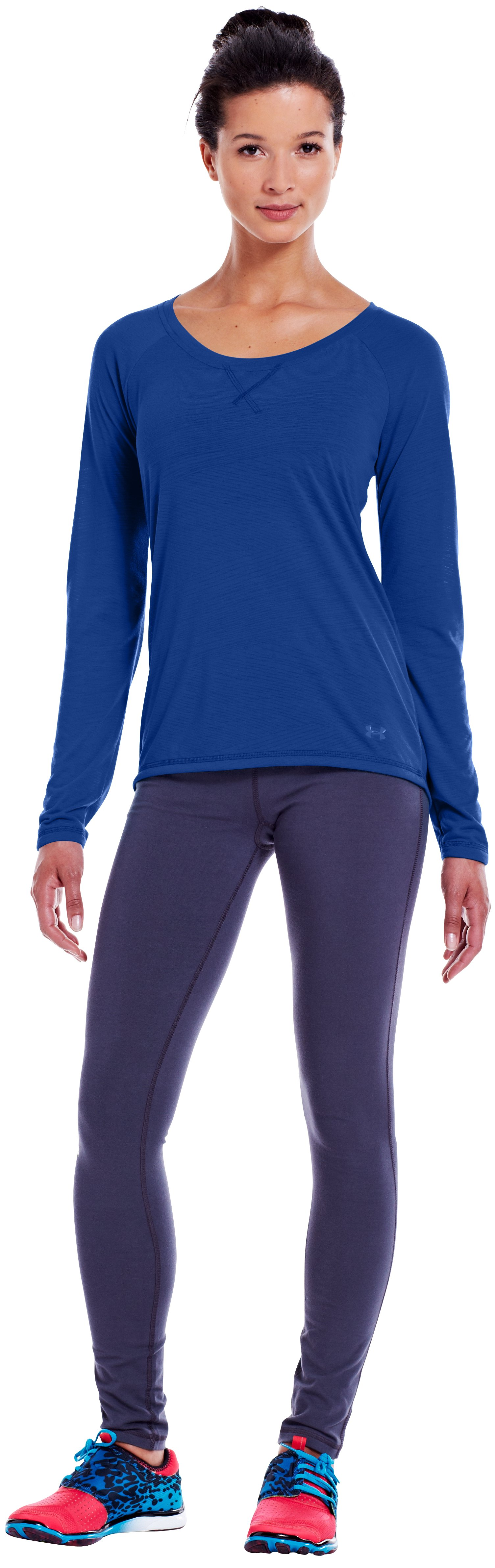 Women's UA Ultimate Burnout Long Sleeve, BLU-AWAY, zoomed image