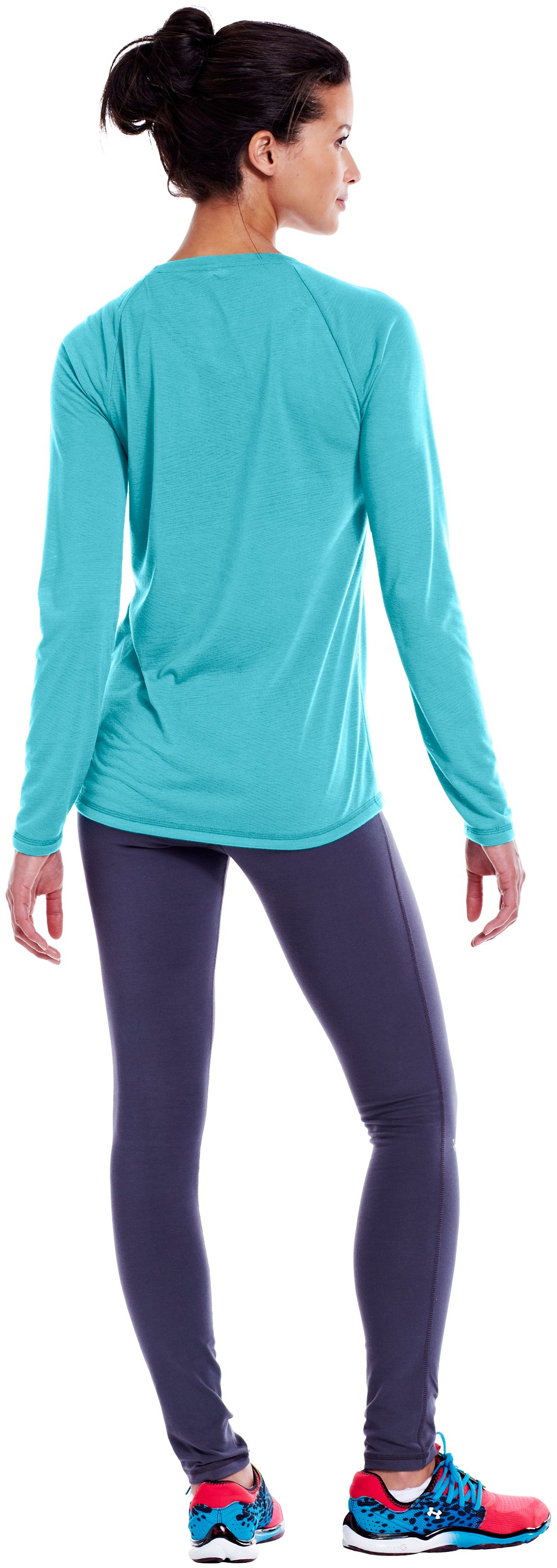 Women's UA Ultimate Burnout Long Sleeve, Tobago, Back