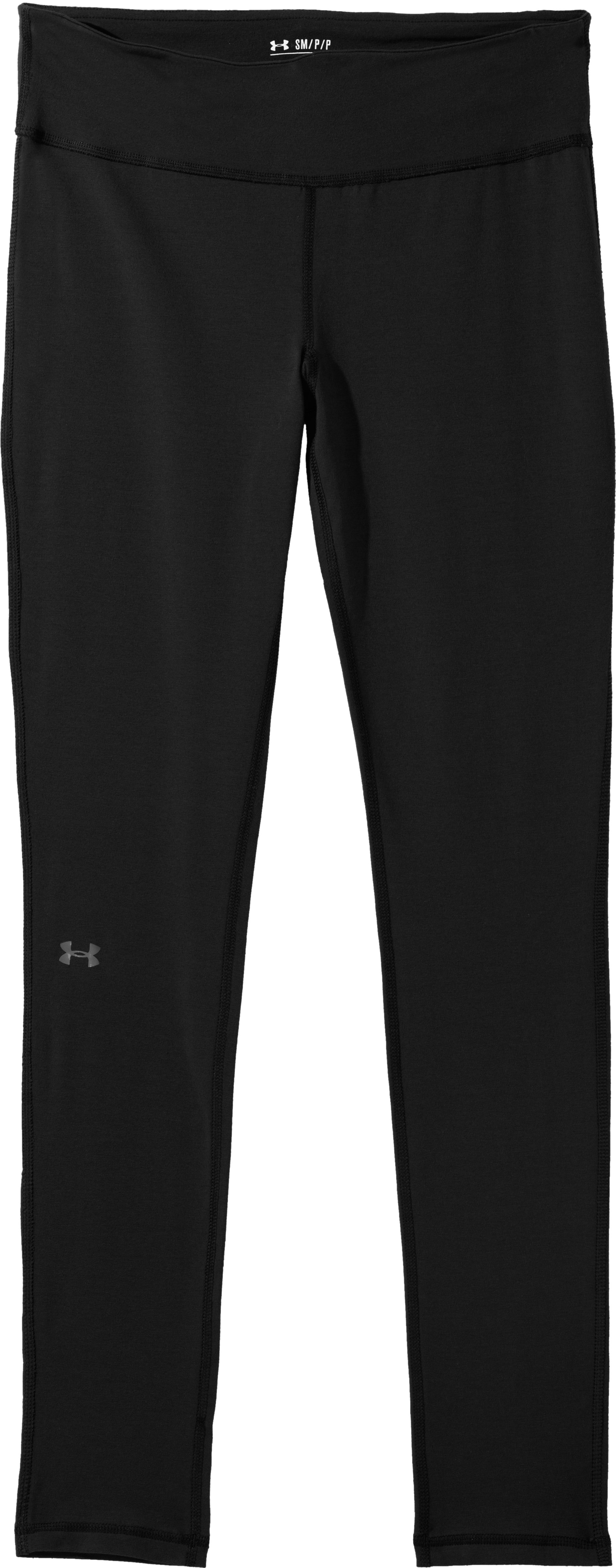 "Women's Charged Cotton® Ultimate 28"" Legging, Black , Laydown"