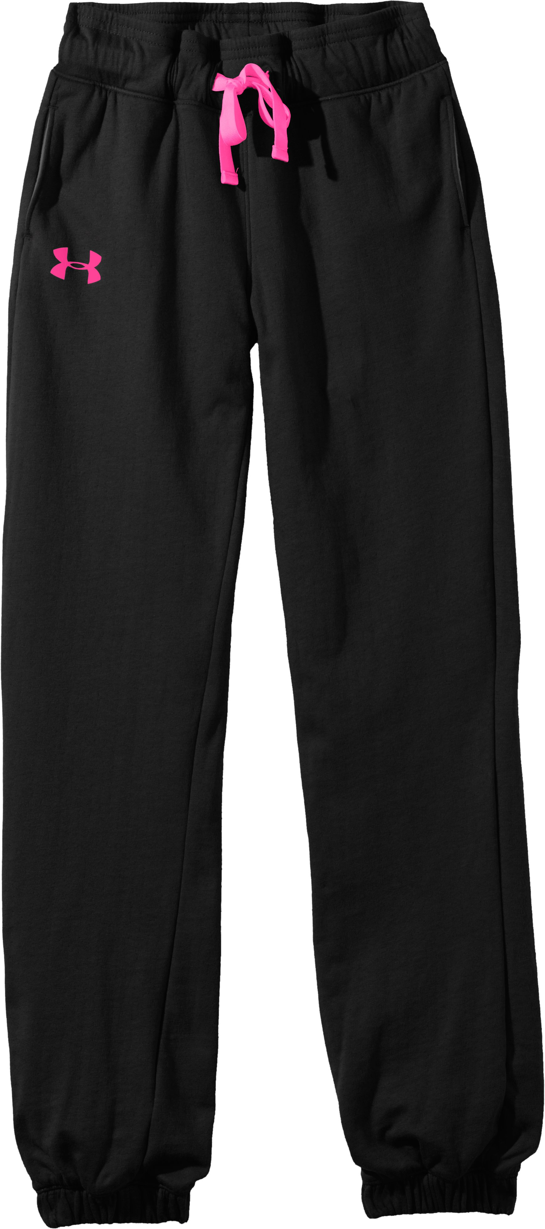 Girls' UA Motion Pant, Black , Laydown