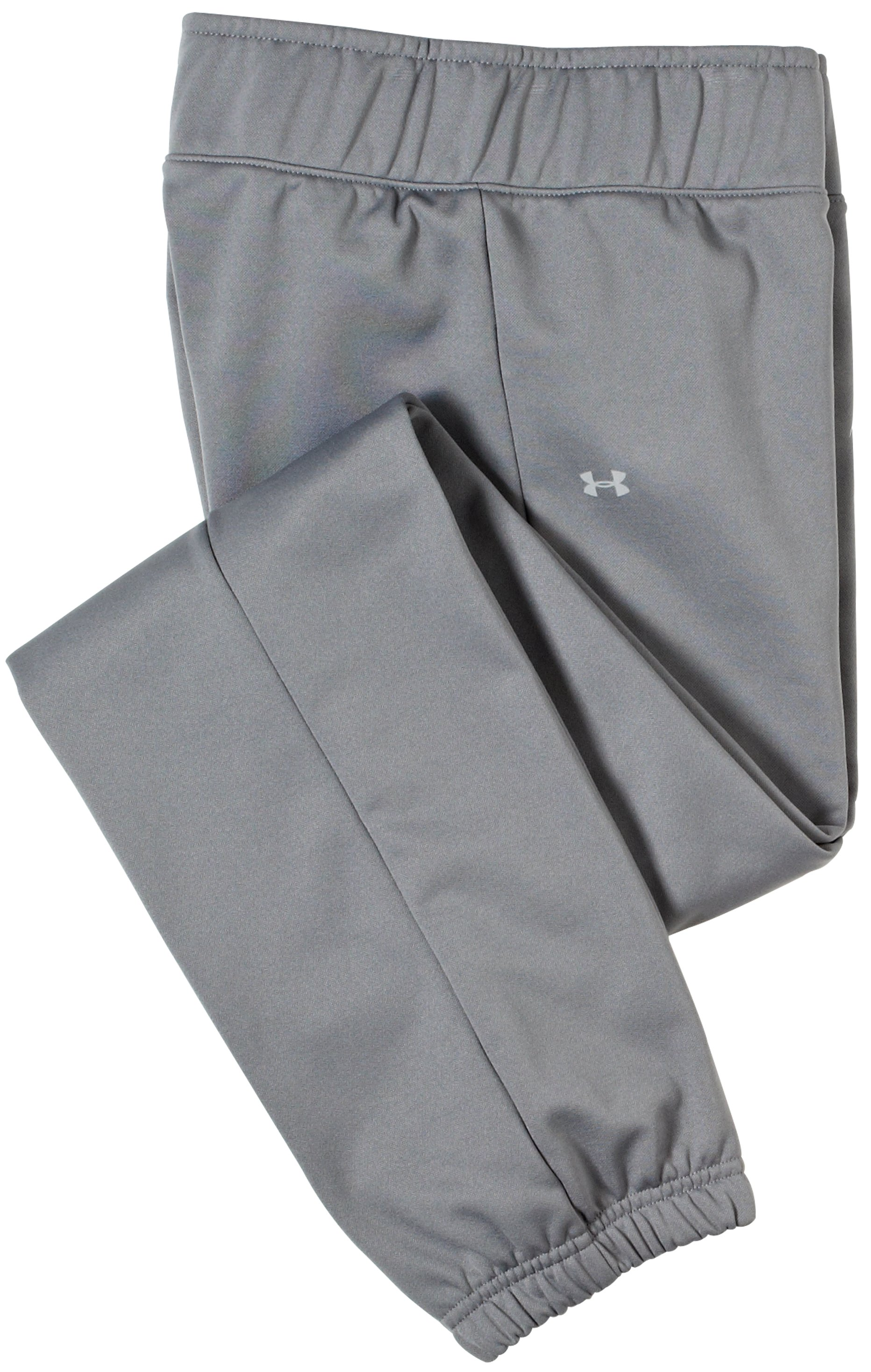 Girls' UA Catalyst Slim Pant, Graphite, Laydown