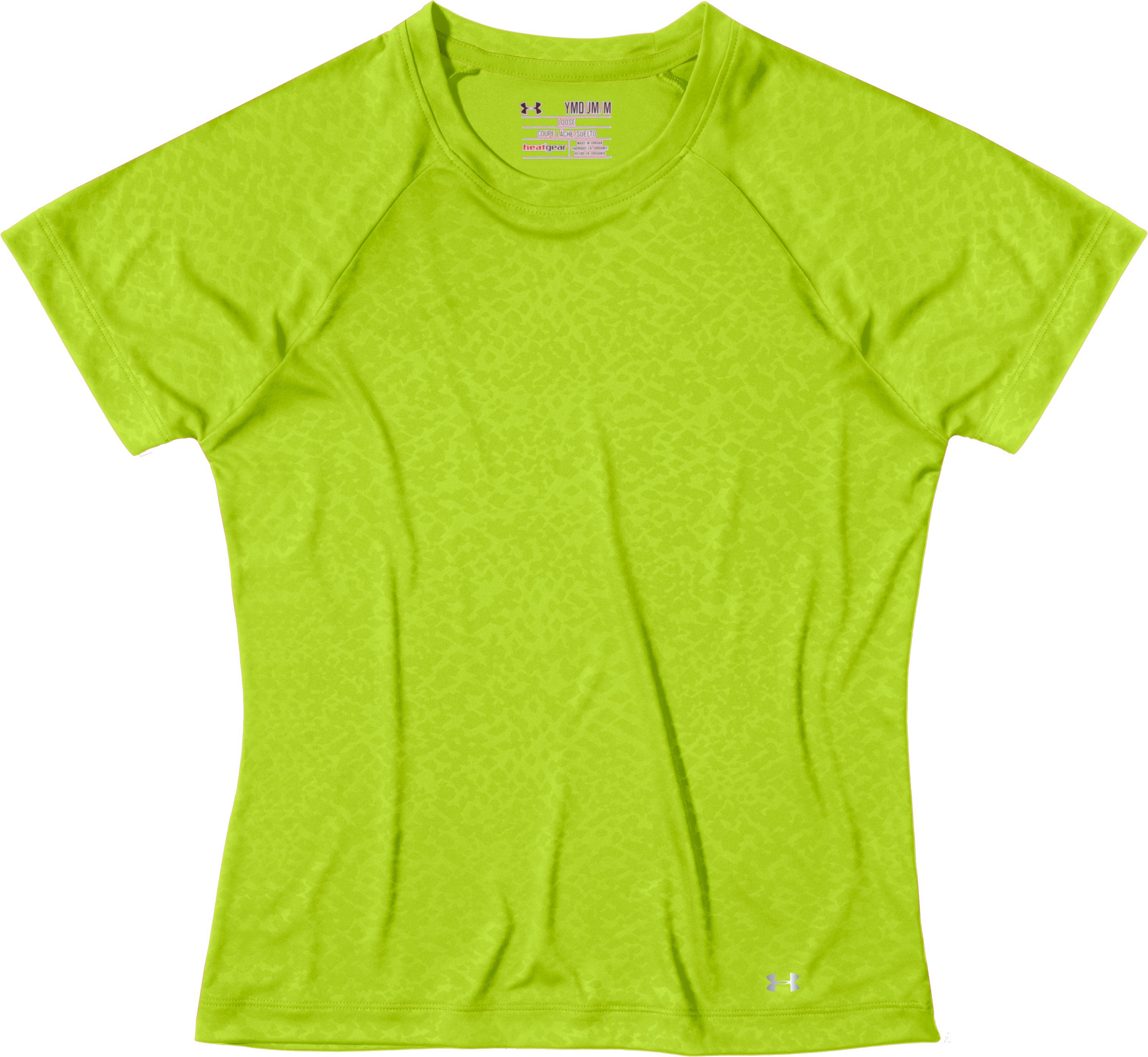 Girls' UA Catalyst Emboss Graphic T-Shirt, Velocity, Laydown