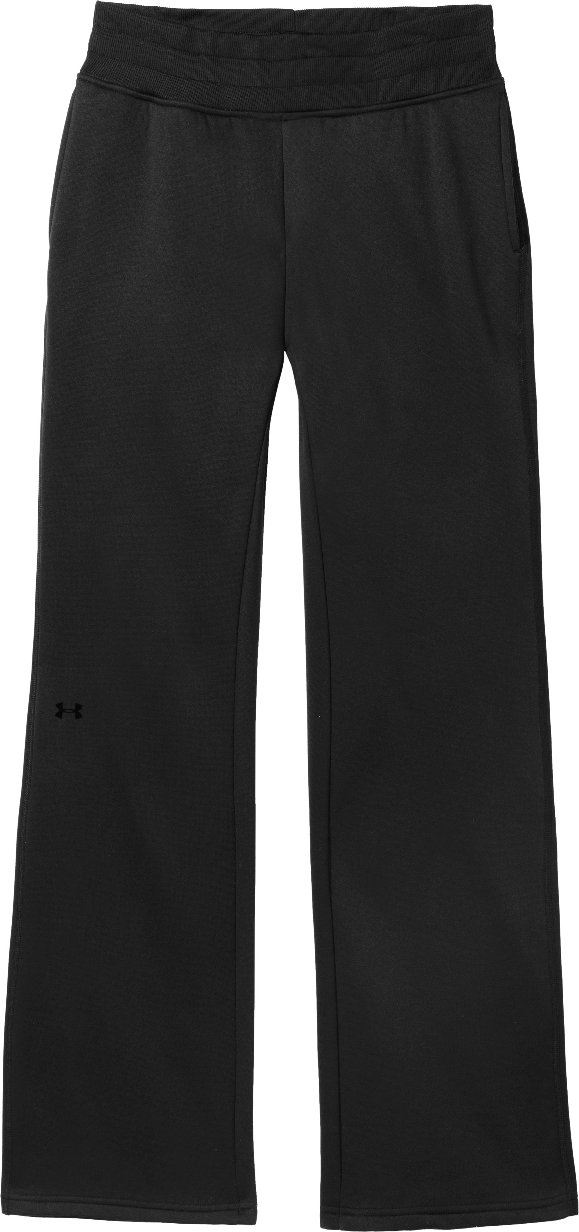 "Women's 34"" Armour® Fleece Storm Pant - Tall, Black , Laydown"