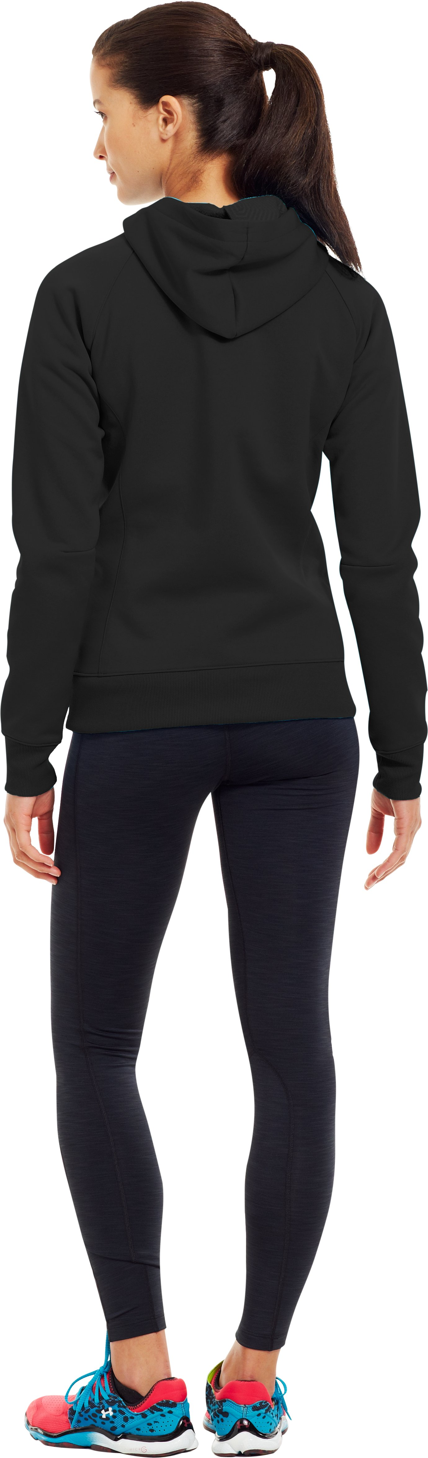 Women's ColdGear® Infrared Armour® Fleece Storm Hoodie, Black , Back