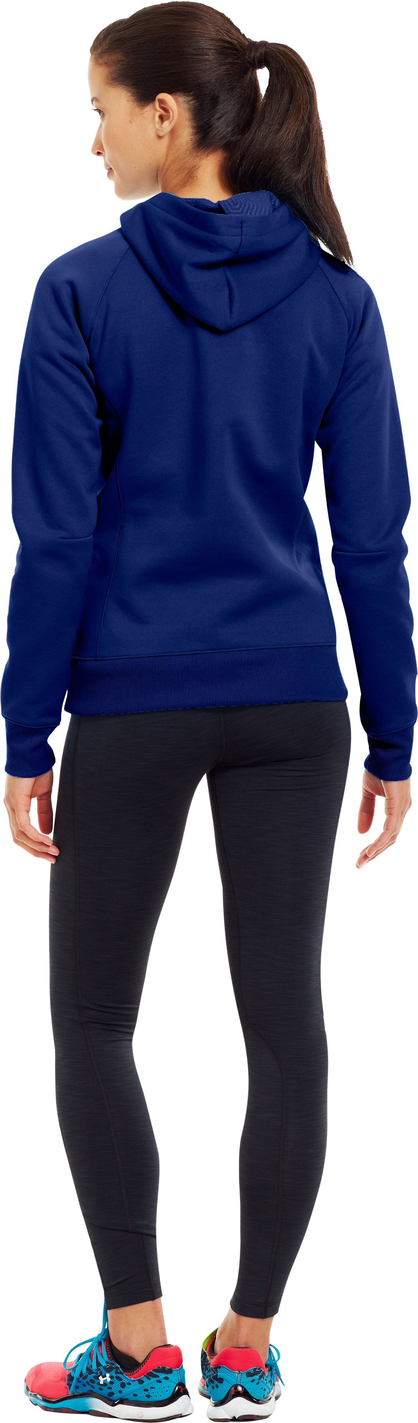 Women's ColdGear® Infrared Armour® Fleece Storm Hoodie, BLU-AWAY, Back