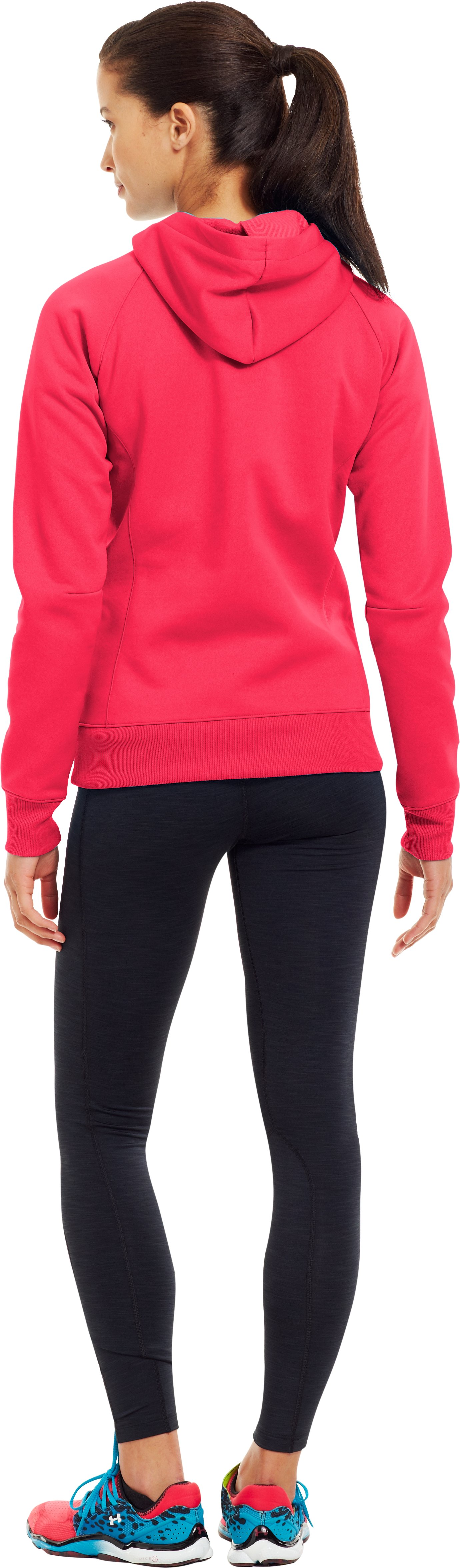 Women's ColdGear® Infrared Armour® Fleece Storm Hoodie, Neo Pulse, Back