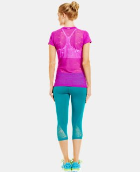 Women's HeatGear® Sonic See It Through Short Sleeve