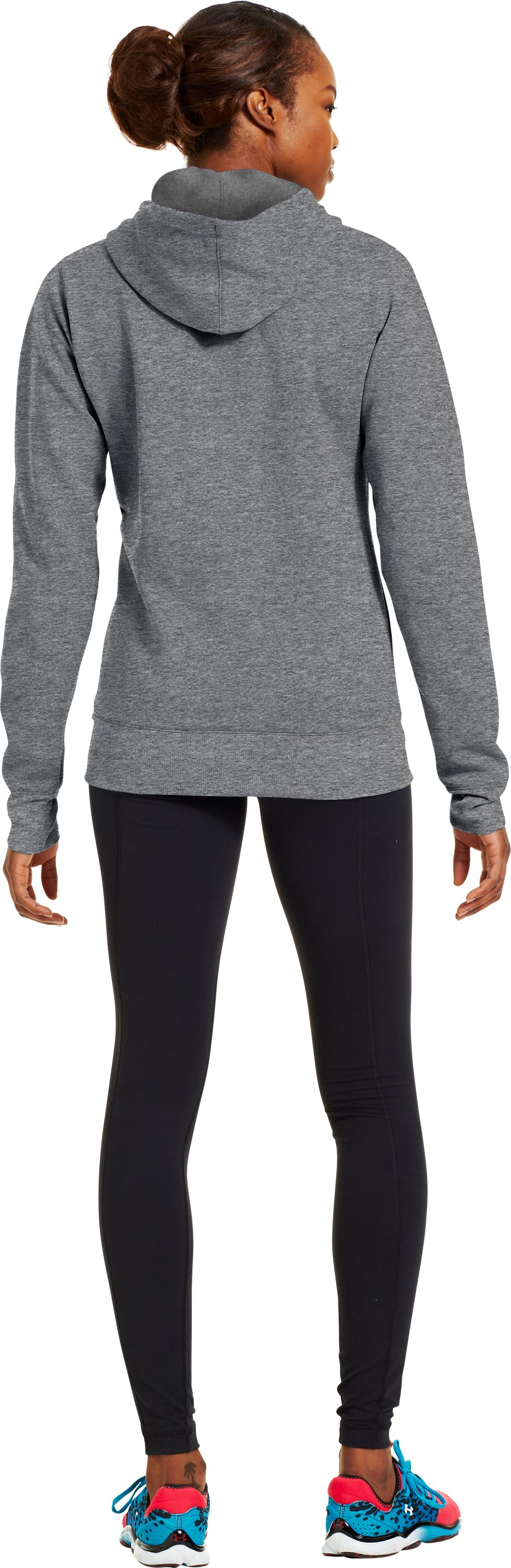 Women's Armour® Fleece Storm Pulse Big Logo Hoodie, True Gray Heather, Back