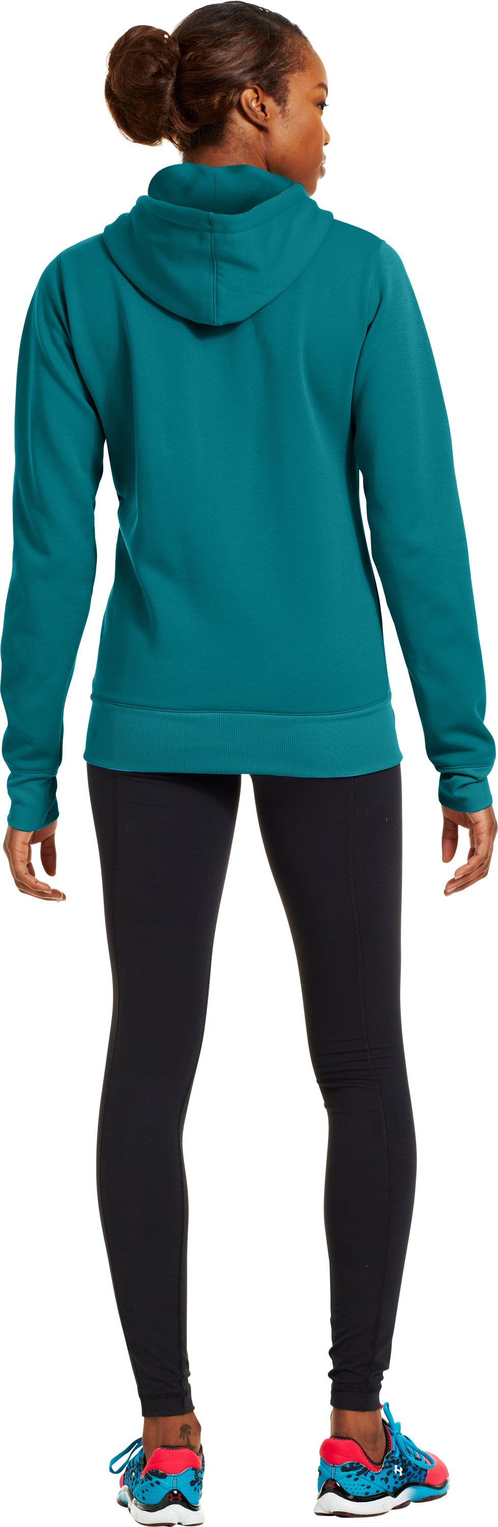 Women's Armour® Fleece Storm Pulse Big Logo Hoodie, CERULEAN, Back