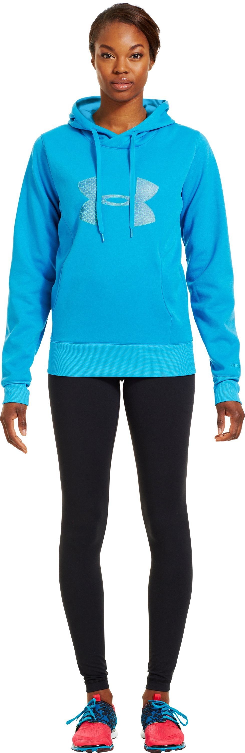 Women's Armour® Fleece Storm Pulse Big Logo Hoodie, PIRATE BLUE, zoomed image
