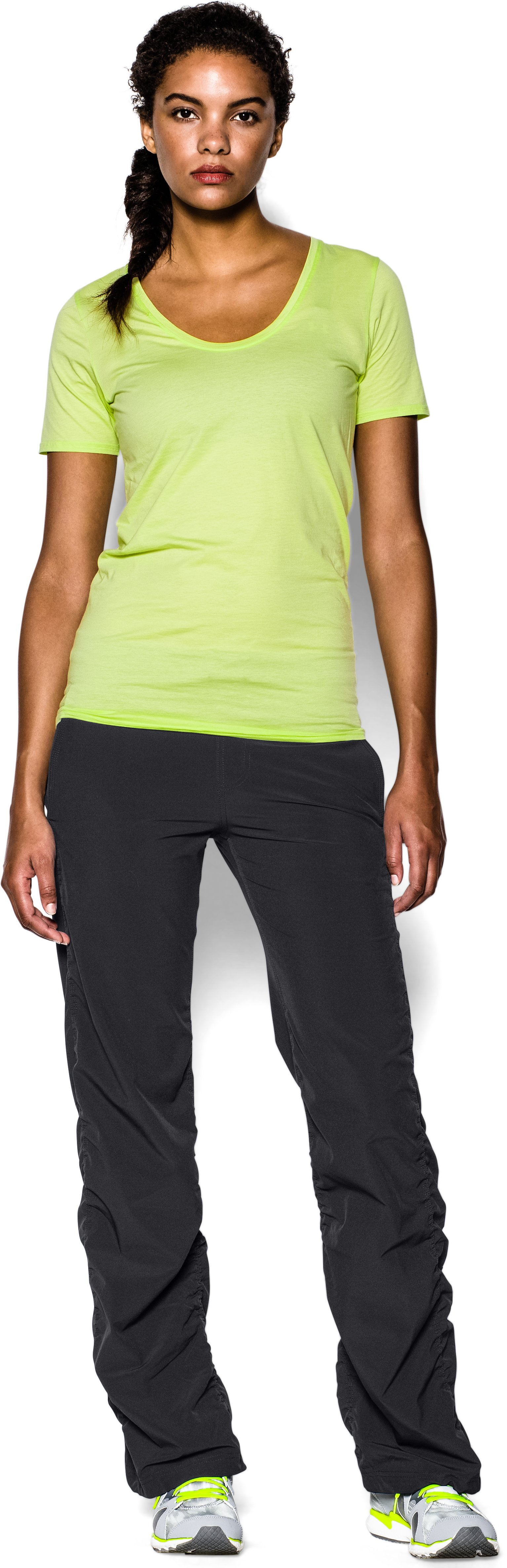 "Women's UA Icon 32"" Pant, Black , Front"
