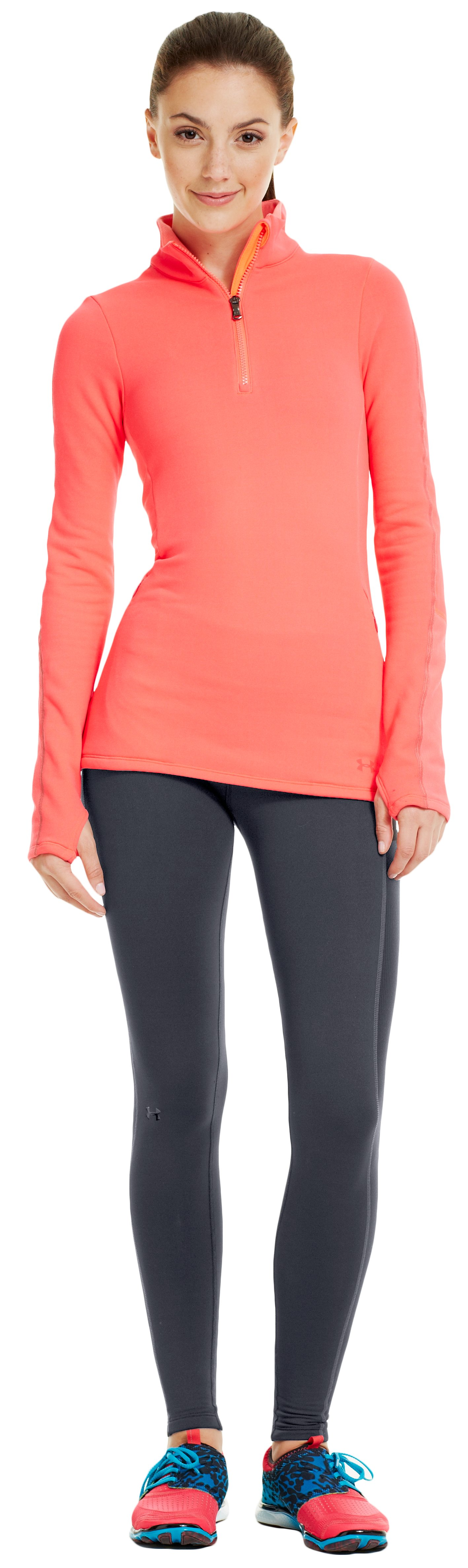 Women's UA Armour® Stretch ColdGear® Tight, Lead, Front
