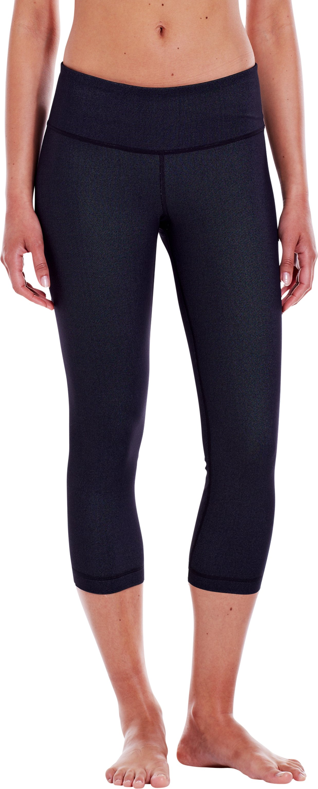 "Women's UA StudioLux® Denim 20"" Capri, Black , zoomed image"