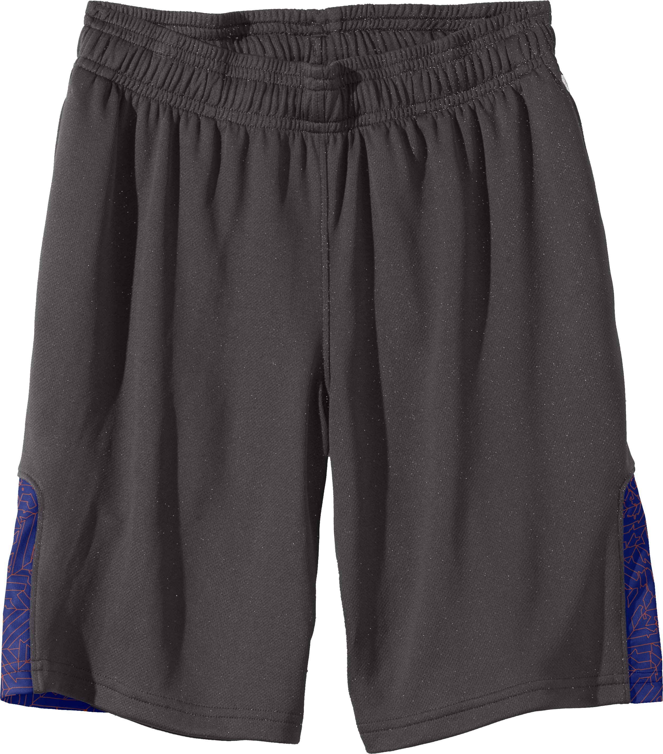 Boys' UA Watch Out Shorts, Charcoal, Laydown