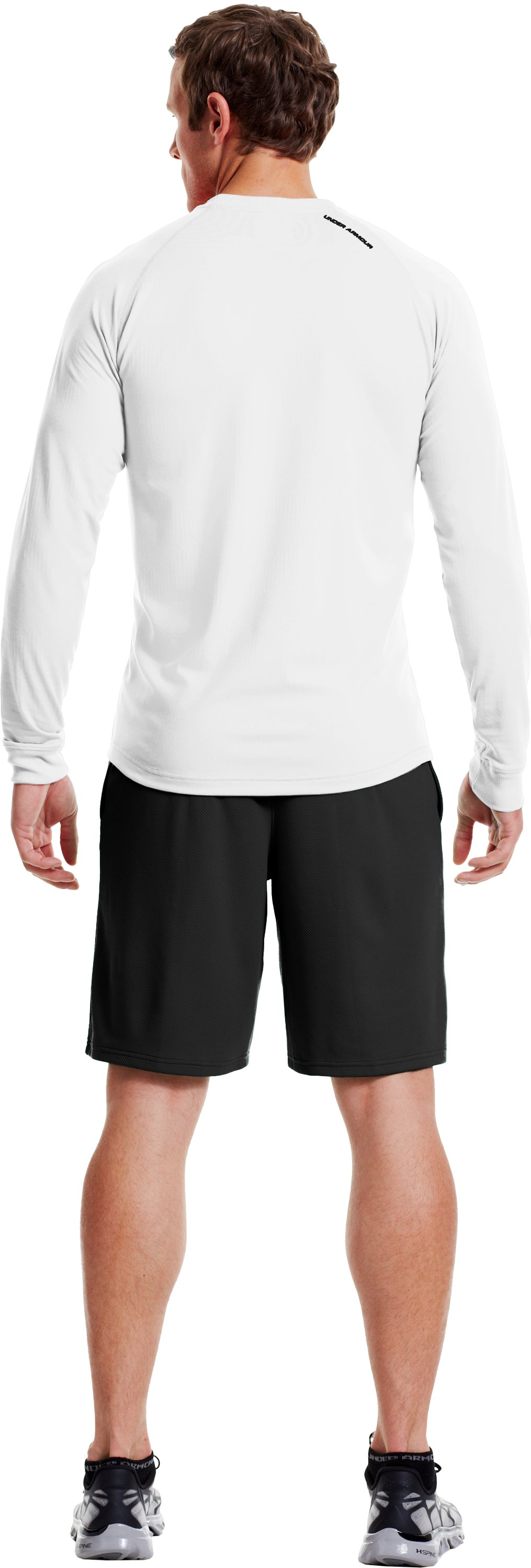 Men's ColdGear® Infrared Crew, White, Back