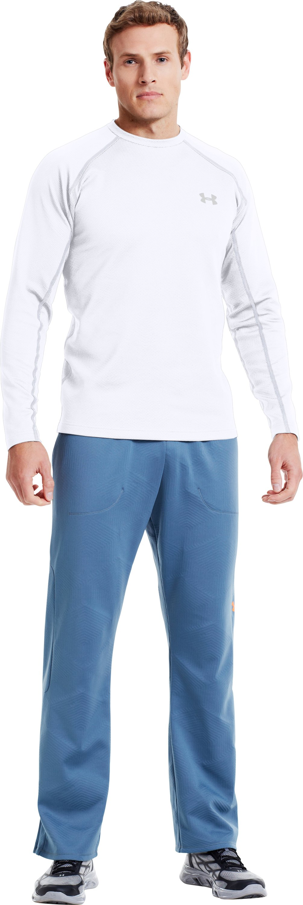 Men's ColdGear® Infrared Thermo Crew, White, Front