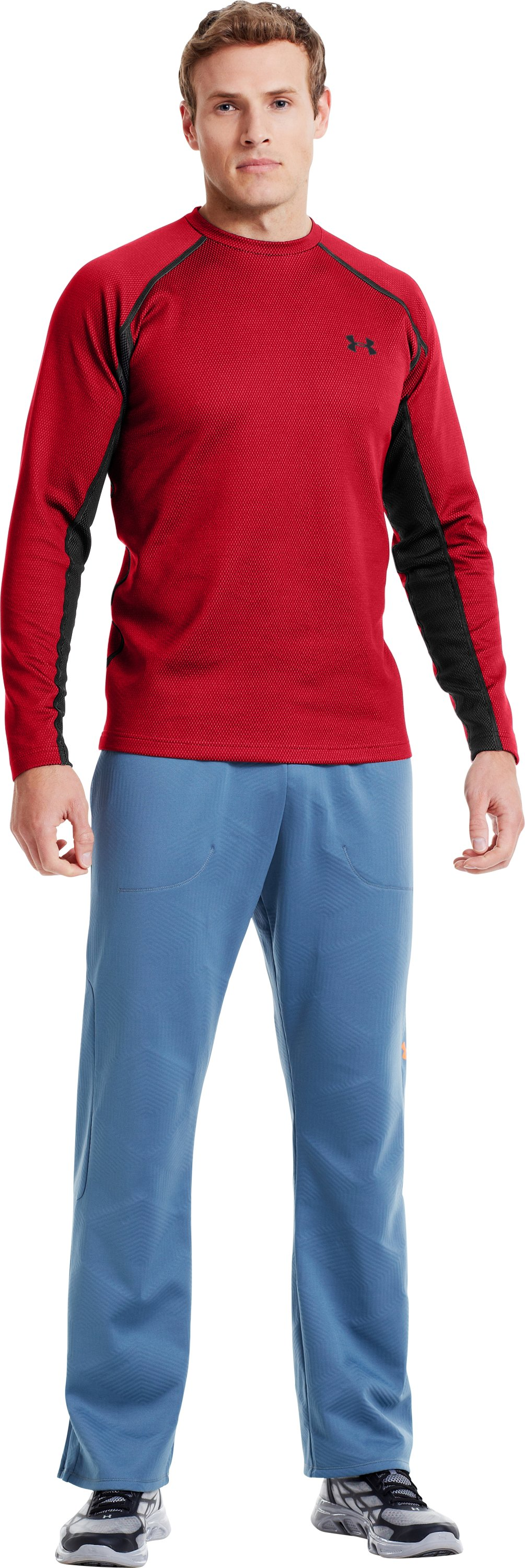 Men's ColdGear® Infrared Thermo Crew, Red, zoomed image