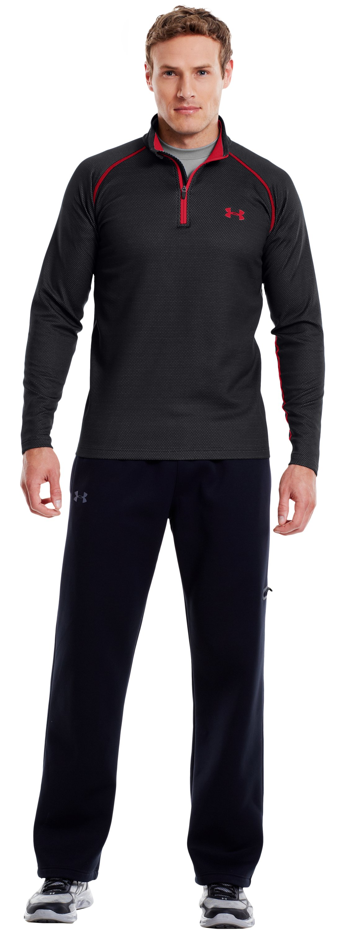 Men's ColdGear® Infrared Thermo ¼ Zip, Black