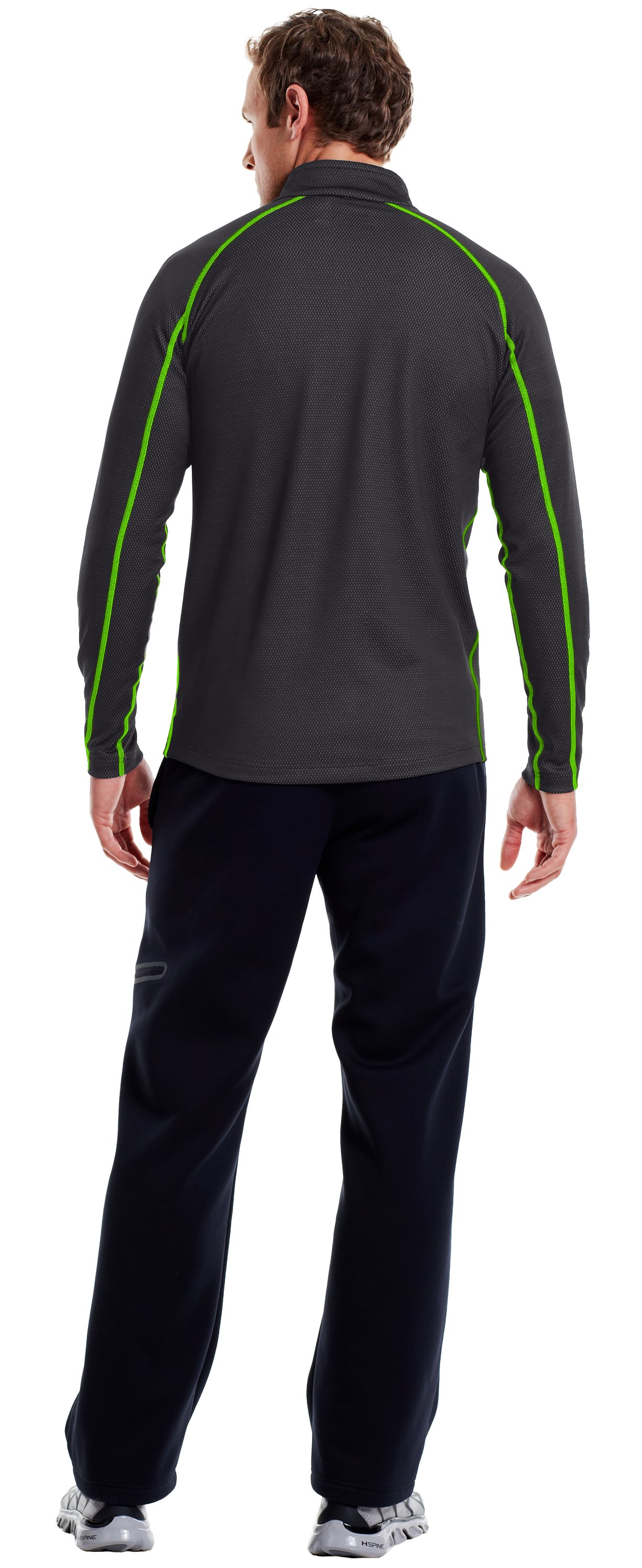 Men's ColdGear® Infrared Thermo ¼ Zip, Carbon Heather, Back