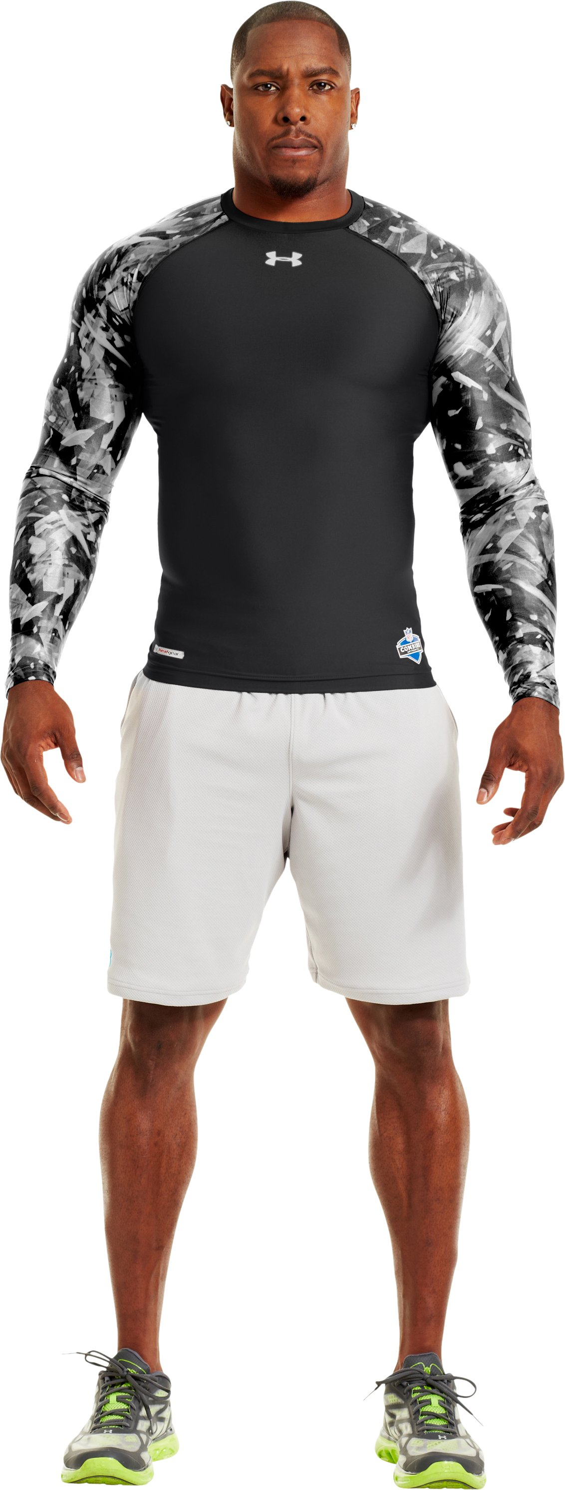 Men's NFL Combine Authentic Compression Long Sleeve, Black , zoomed image